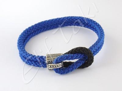 Gümüş Erkek Bileklik Mavi Halat ESB1012