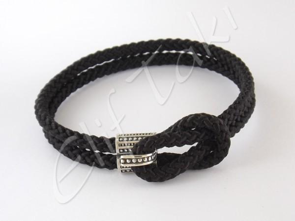 Gümüş Erkek Bileklik Siyah ESB1013