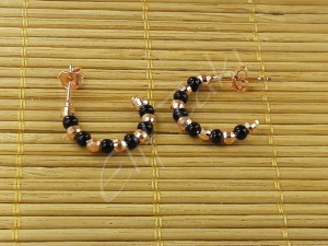 Dorica Siyah Taşlı Küpe drckp-1001
