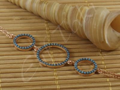 Zincir Bileklik Üçlü Halka zncbil1006